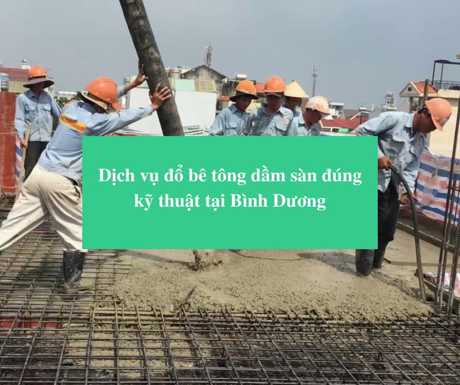 Read more about the article Dịch vụ đổ bê tông dầm sàn đúng kỹ thuật tại Bình Dương