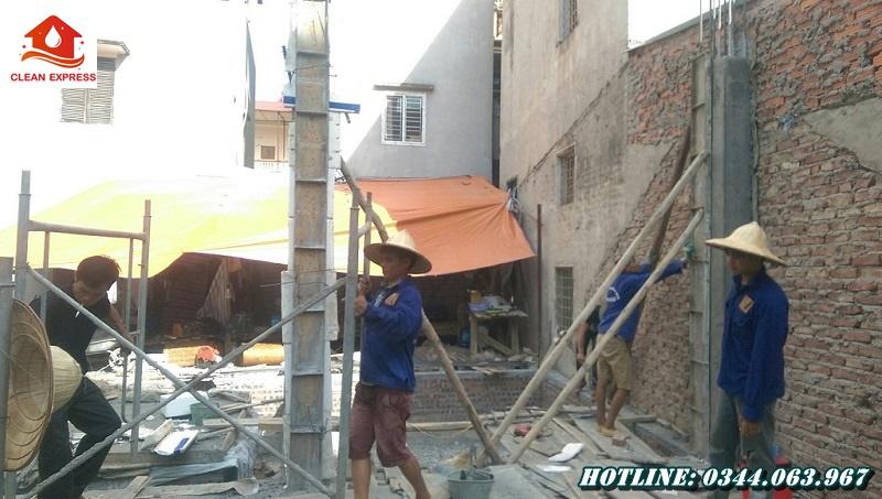Đất Tháp - Đơn vị thi công đổ bê tông cột chuẩn kết cấu