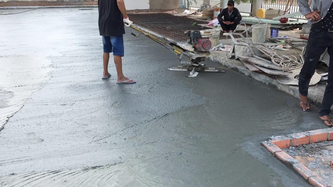 Đơn giá xoa bê tông nền bằng máy tại Bình Dương