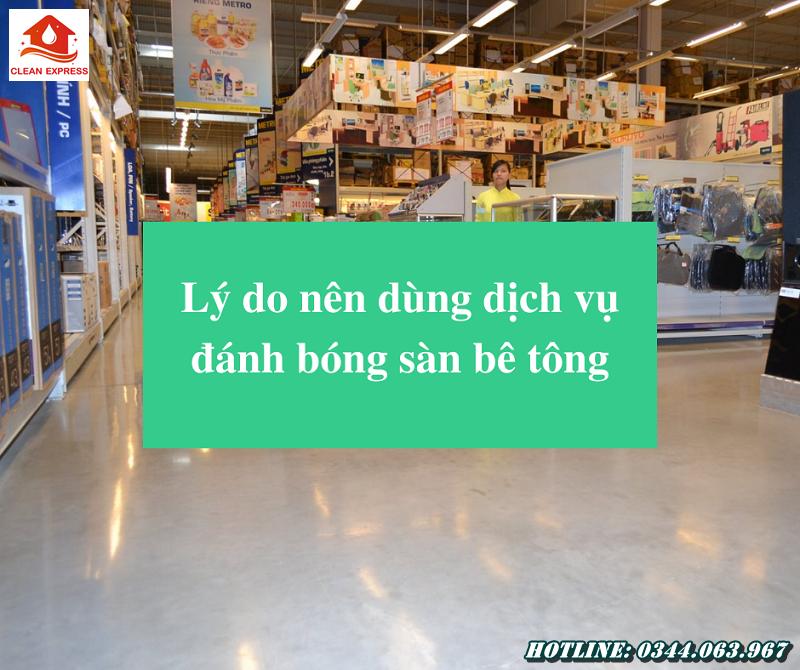 Read more about the article Lý do nên dùng dịch vụ đánh bóng sàn bê tông
