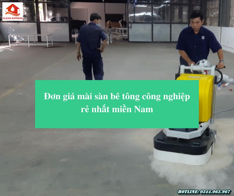 Read more about the article Đơn giá mài sàn bê tông công nghiệp rẻ nhất miền Nam