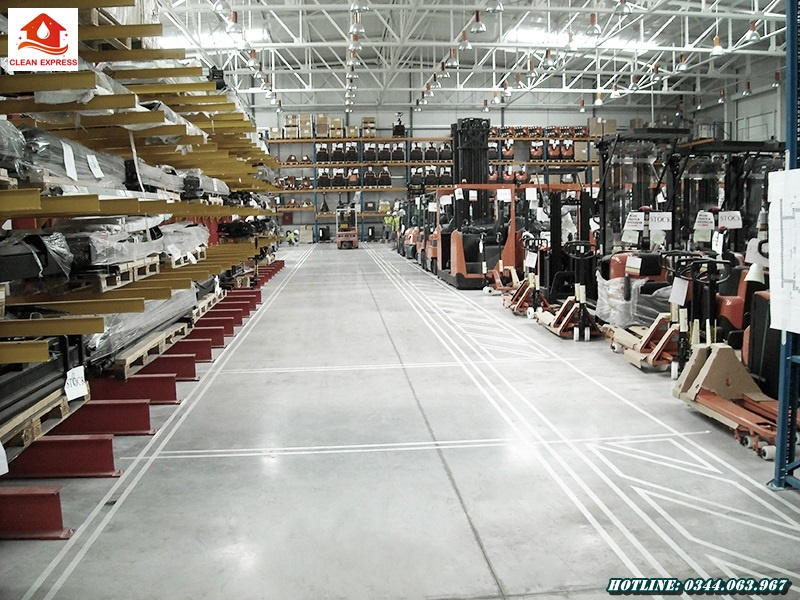 Mài sàn bê tông công nghiệp tại Bình Dương